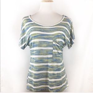 Francesca's | Michelle Stripe Short Sleeve Tee